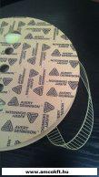 Műanyag kapocs, átlátszó, 30mm, 10.000db/tekercs