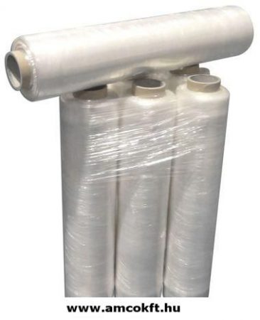 Sztreccsfólia, előrefeszített, 430mm, 600m, 7my, 1,92kg/tekercs, 6tekercs/doboz
