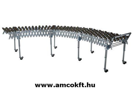 EXTEND EXE-103 Görgősor, műanyag görgőkkel, 500mm széles, 3 szekciós, kihúzható, összecsukva:1500mm, kinyitva: 4500mm