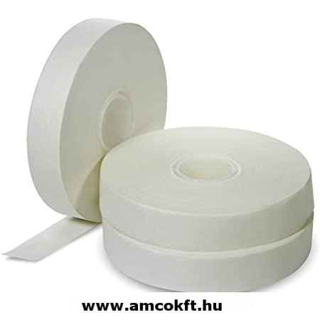 Bandázsszalag, hőhegesztéses, kraft papír, fehér, 30mm, 190m, 110my
