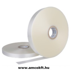 Bandázsszalag, ultrahangos, műanyag, áttetsző, 20mm, 750m, 125my, ATS