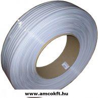 Klipsz szalag, Fehér, 600m, 0,6 mm, dupla acéldrót erősítéssel