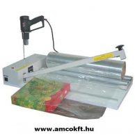 MERCIER ME800IP Fóliahegesztő fóliatartóval, asztali, 800mm cekászos (vágószálas) hegesztőszállal
