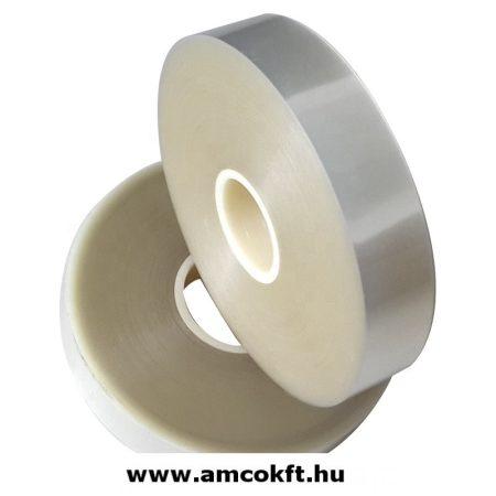 Bandázsszalag, hőhegesztéses, áttetsző, műanyag, 29mm, 150m, 120my, Sunpack
