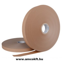 ATS Bandázsszalag, hőhegesztéses, papír, barna, 30mm, 1000m, 70g/m2