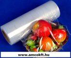 Sztreccsfólia, PE, élelmiszerhez, 400mm, 1500m, 10my, 5,52kg/tekercs