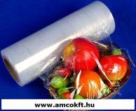 Sztreccsfólia, PE, élelmiszerhez, 450mm, 1500m, 10my, 6,21kg/tekercs