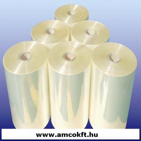 Zsugorfólia, PO, féltömlő, 19my, 500mm, 1070m, 18,70kg/tekercs
