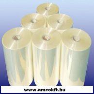 Zsugorfólia, PO, féltömlő, 13my, 250mm, 1550m, 9,3kg/tekercs