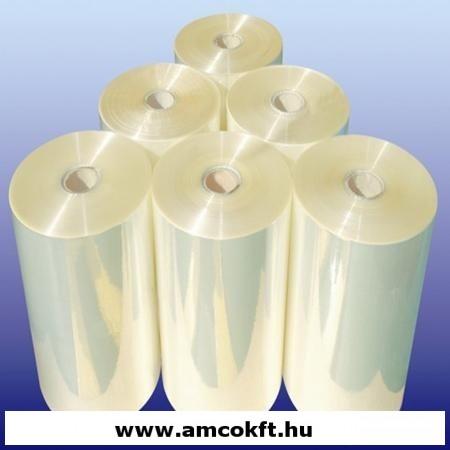 PO mikroperforált féltömlő zsugorfólia, 550mm, 19my, 1000m, 21,88kg/tekercs