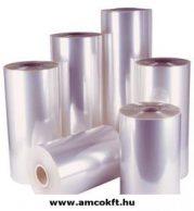 Zsugorfólia, PVC, féltömlő, 18my, 200mm, 600m, 11%-os zsugorodás, 6,55kg/tekercs