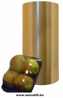 Sztreccsfólia, PVC, perforált, élelmiszerhez, 450 mm, 1500m, 13my, 11,7kg/tekercs