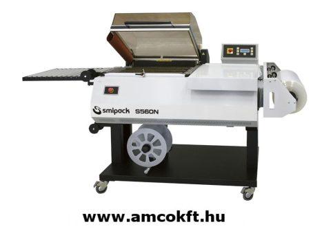 SMIPACK S560N Zsugorfóliázó gép állvánnyal, egylépéses, kihordó szalaggal