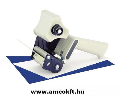SIAT H75CP Kézi tapadószalag felhordó rozsdamentes acél pengével és rugós fékezővel, 75mm széles tapadószalaghoz