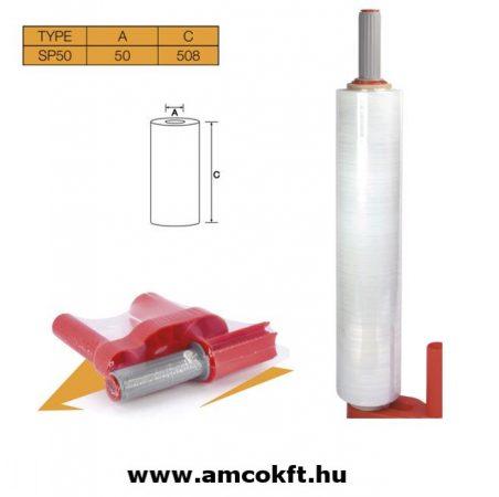 SIAT SP50 Sztreccsfólia felhordó, kézi, műanyag, 50 mm cséve átmérőjű, 508 mm széles fóliához