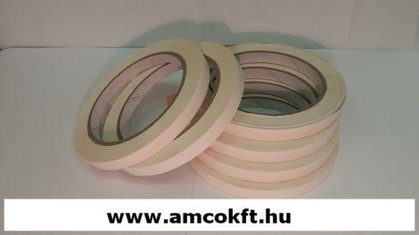 Ragasztószalag, PVC, fehér, 9mm, 66m, 45g/tekercs, tasakzáró géphez