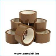 Ragasztószalag, PP/Hotmelt, barna, 48mm, 66m