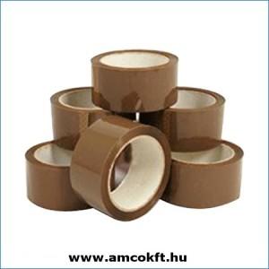 Ragasztószalag, PP/Solvent, barna, 48mm, 60m, 42my
