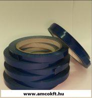 Ragasztószalag, PVC, kék, 9mm, 66m, 45g/tekercs, tasakzáró géphez