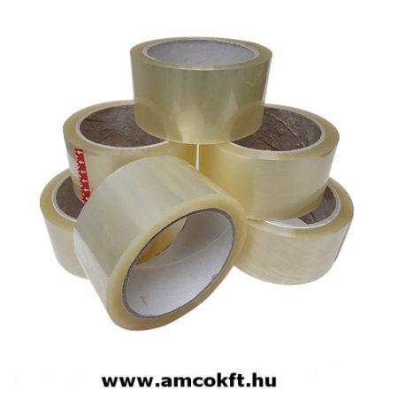 Ragasztószalag, PP/Hotmelt, áttetsző, 100mm, 60m