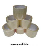 Ragasztószalag, PP/Hotmelt, áttetsző, 75mm, 66m