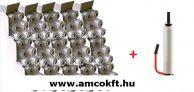 AKCIÓS Kézi sztreccsfólia 15 doboz+Fém fólia felhordó, 500mm, 146,5m, 23my, 2,2kg/tekercs (12002-1487)
