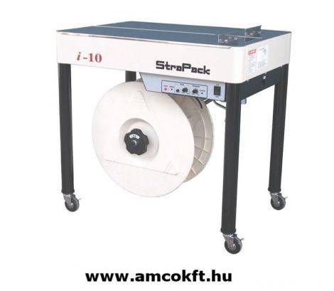 """STRAPACK i10 Pántológép, félautomata, """"soft"""" funkcióval, állítható lábakkal, 755-905mm-ig, 25mm-ként 6 pozícióba állítható"""