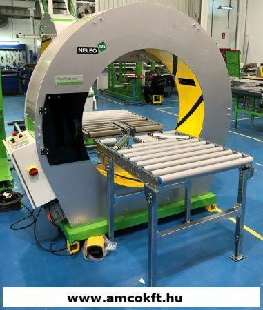 PLASTICBAND NELEO N125 Körpályás csomagológép, félautomata, kör alakú termékek csomagolásához