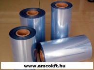 Zsugorfólia, PVC, féltömlő, 12,5my, 200mm, 600m, 4,19kg/tekercs