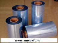Zsugorfólia, PVC, féltömlő, 12,5my, 200mm, 600m, 3,9kg/tekercs