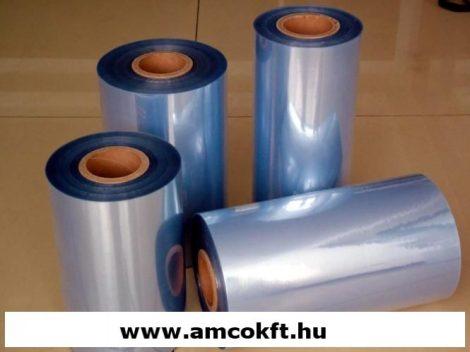 Zsugorfólia, PVC, féltömlő, 12,5my, 250mm, 600m, 5,23kg/tekercs
