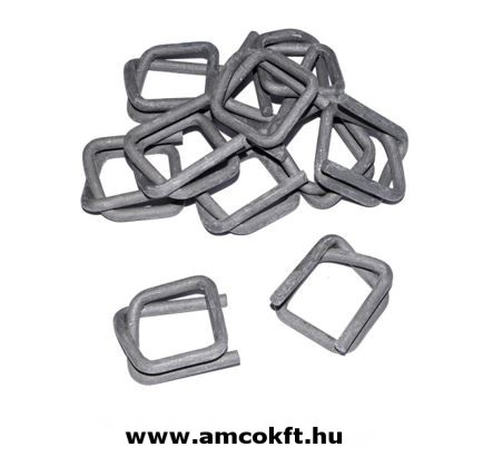 Metal clamps to textile strap, 16mm, 1000 piece/box