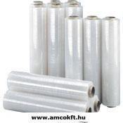 AMCO Sztreccsfólia, kézi, 500mm, ~195m, 23my, 2,25kg/tekercs, 6 tekercs/doboz