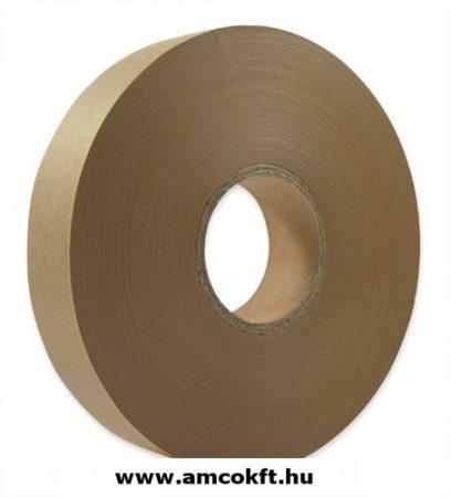 Bandázsszalag, hőhegesztéses, barna, papír, 30mm, 150m, 130my, Sunpack