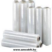 AMCO Sztreccsfólia, kézi, 500mm, ~250m, 17my, 2,25kg/tekercs, 6 tekercs/doboz