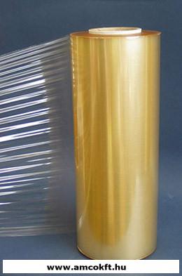 Sztreccsfólia, PVC, nem perforált, élelmiszerhez, 380mm, 1500m, 13my, 9,55kg/tekercs
