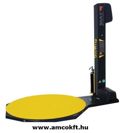 Használt félautomata raklapfóliázó csomagológép előnyújtásos fóliakocsival - SIAT OneWrap