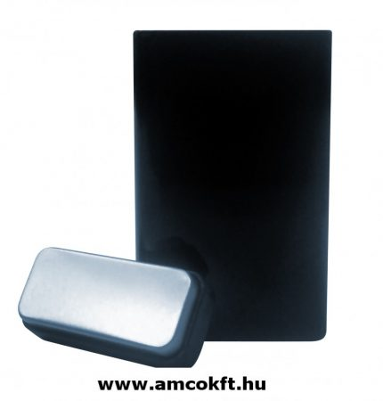 Fekete lakkozott ón doboz nagy