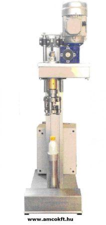 Asztali félautomata palackzáró gép, pneumatikus hajtású